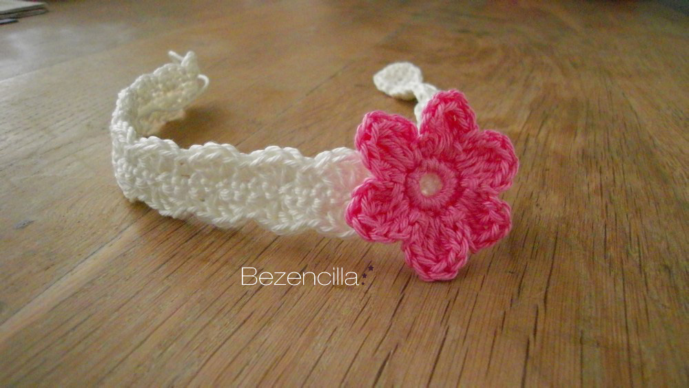 Crochet Headband Pattern For Baby With Flower : Updated patterns! Crocheted baby headband and hat ...