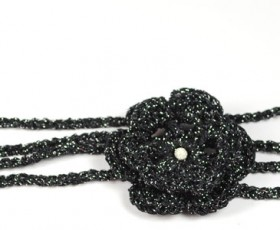 Elegant black headbands, DIY crochet kit and giveaway