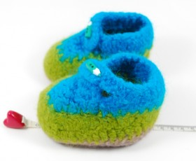 Felt baby booties and slippers