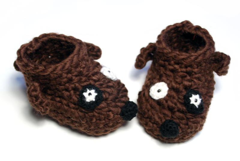 New wool and cool baby booties |
