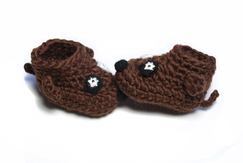 Free Crochet Pattern For Dog Shoes : New wool and cool baby booties