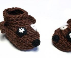 New wool and cool baby booties