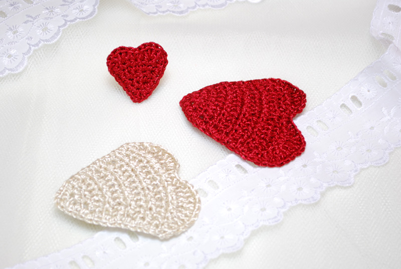 Valentines Day And Crochet Lips Hair Clip Free Pattern